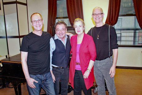 Dan Martin, Bill Castellino, Jennifer Robbins, and Michael Biello. Photo by Matthew Gurren.