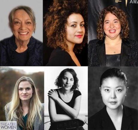 Carol Hall, Lileana Blain-Cruz, Liesl Tommy, Emily Simoness, Jess Chayes. and Linda Cho. Photo courtesy of the League of Professional Theatre Women.