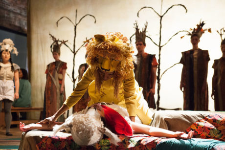Cathy Simpson (as Lion) and Ensemble. Photo by Plate 3 Photography.