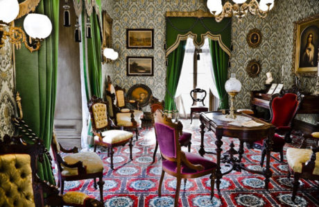 The parlor at Ebenezer Maxwell Mansion.