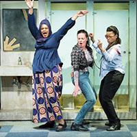 Melanye Finister, Danielle Skraastad, and Yvette Ganier. Photo by Mark Garvin.