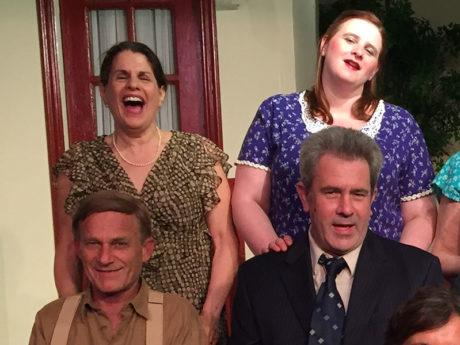 Rich Geller, Susan Triggiani, Robert Toczek, and Jennifer Sivers-Roberts. Photo courtesy Old Academy Players.