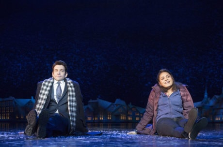 Andy Karl and Barrett Doss in Groundhog Day. Photo by Joan Marcus.
