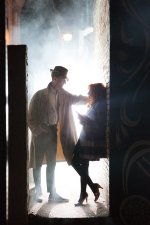 Zachary Chiero and Jenna Kuerzi in a promotional image for Fishtown – A Hipster Noir. Photo by Kate Raines, Plate 3 Photography.