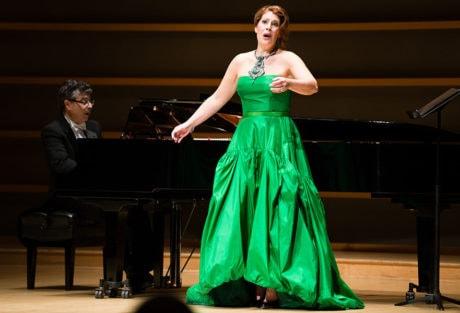 Sondra Radvanovsky with pianist Anthony Manoli. Photo by Dominic M. Mercier.