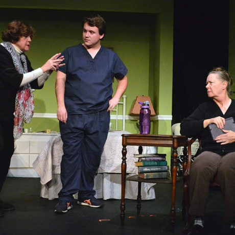 Susan Dewey, Steve Harding, and Virginia Barrie. Photo courtesy South Camden Theatre Company.