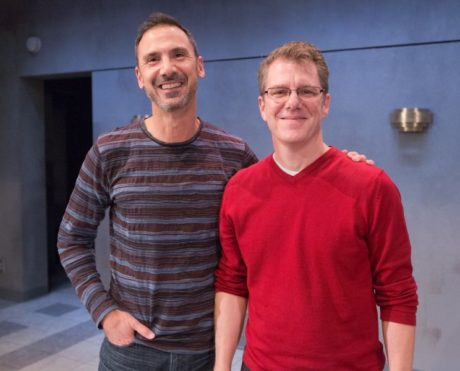 Composer Robert Maggio and playwright/lyricist Michael Hollinger. Photo by Mark Garvin.