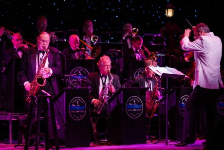 Larry Lees (right) and Orchestra. Photo by Shifted Focus.