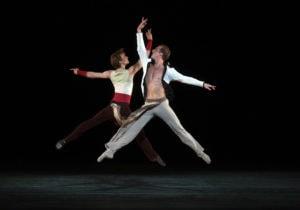 Blaine Hoven and Daniil Simkin in American Ballet Theatre: Ratmansky, Robbins, Millepied & Wheeldon. Photo by Rosalie O'Connor.