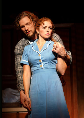 Nick Bailey and Desi Oakley in Waitress. Photo by Joan Marcus.