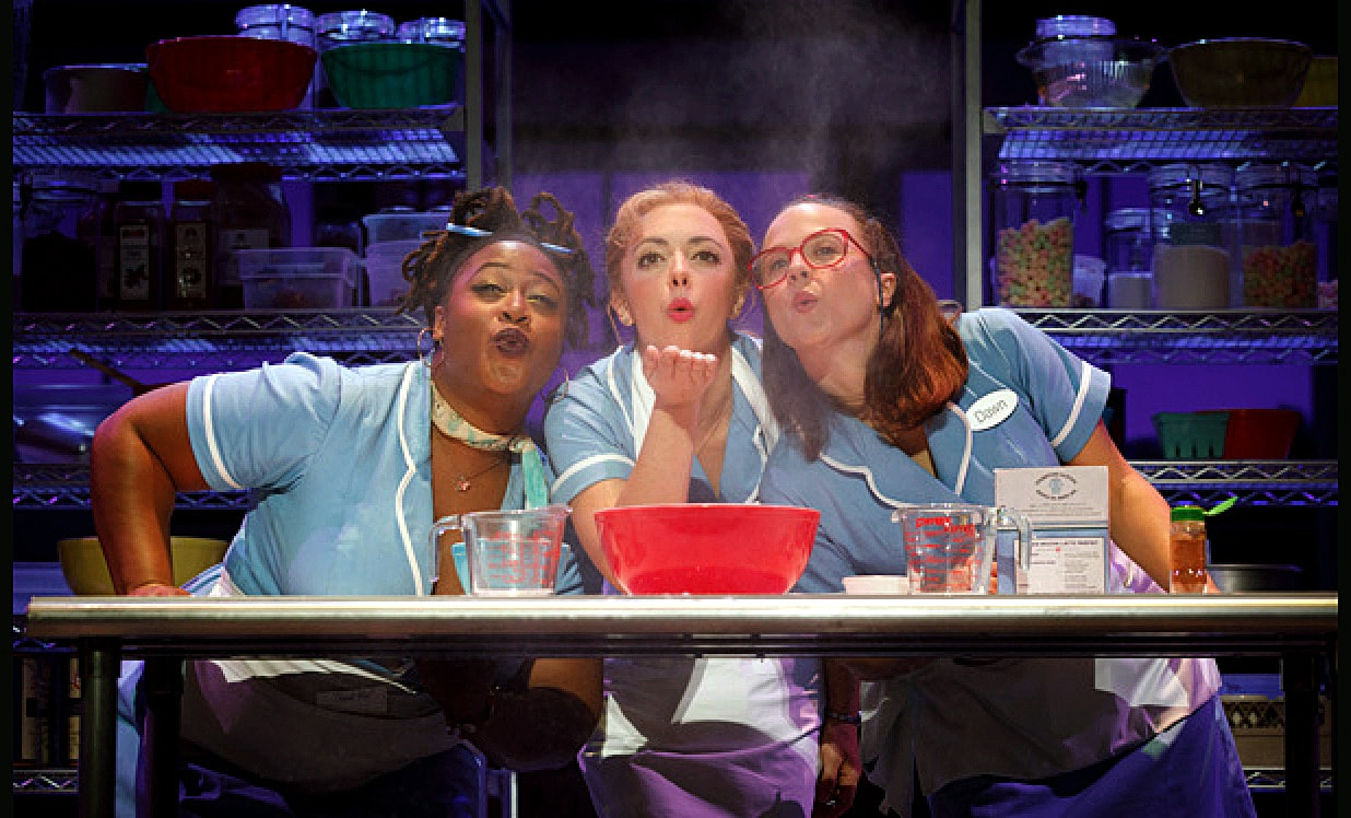 Charity Angel Dawson, Desi Oakley, and Lenne Klingaman in Waitress. Photo by Joan Marcus.