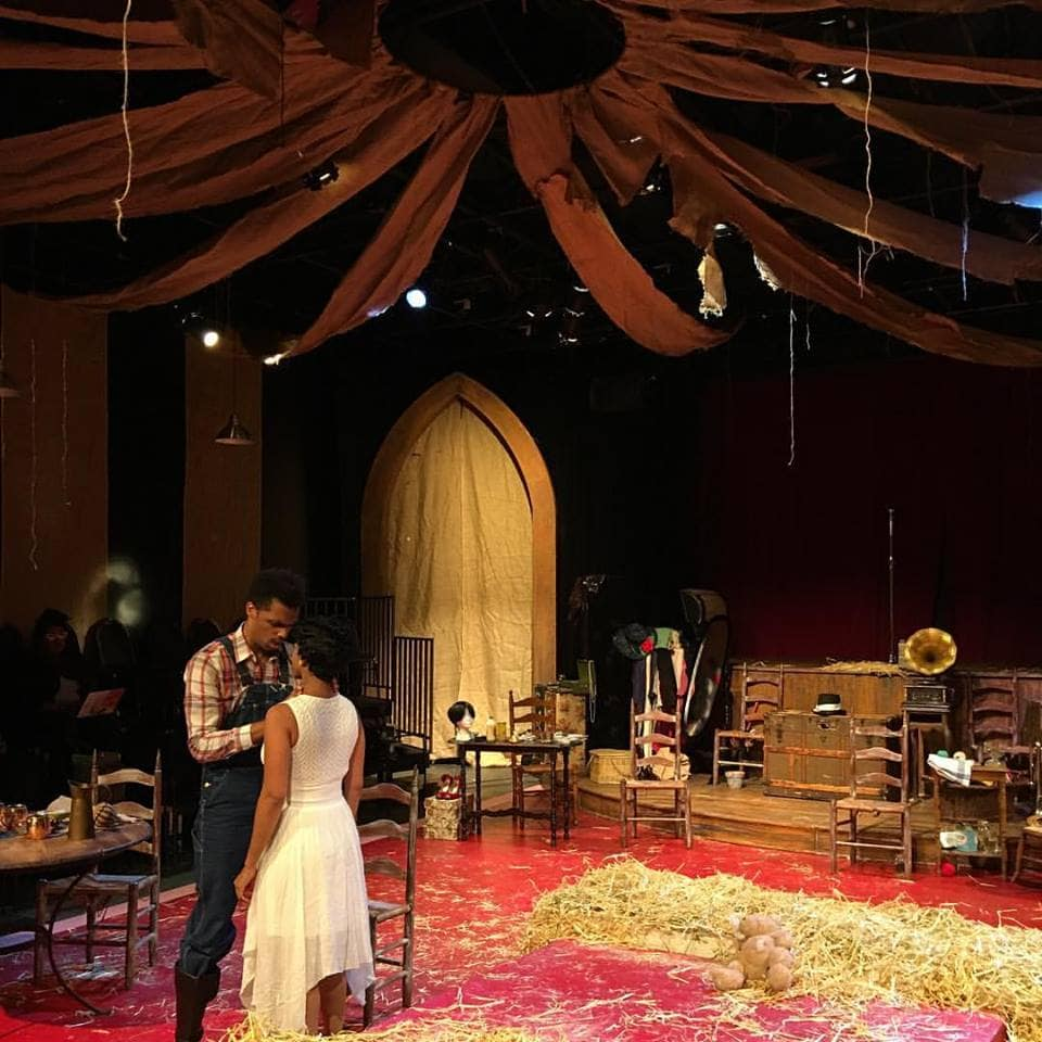 Miles Folley and Ayana Reed in The Very Last Days of the First Colored Circus. Photo courtesy of Restoration Stage.