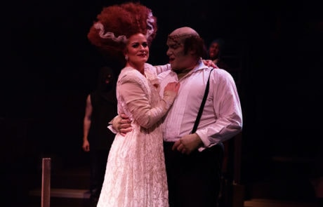 Alicia Osborn and Christopher Kabara in Young Frankenstein. Photo courtesy of Toby's Dinner Theatre.