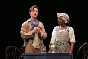 Christopher Dinolfo and Felicia Curry in Jefferson's Garden. Photo by Carol Rosegg.