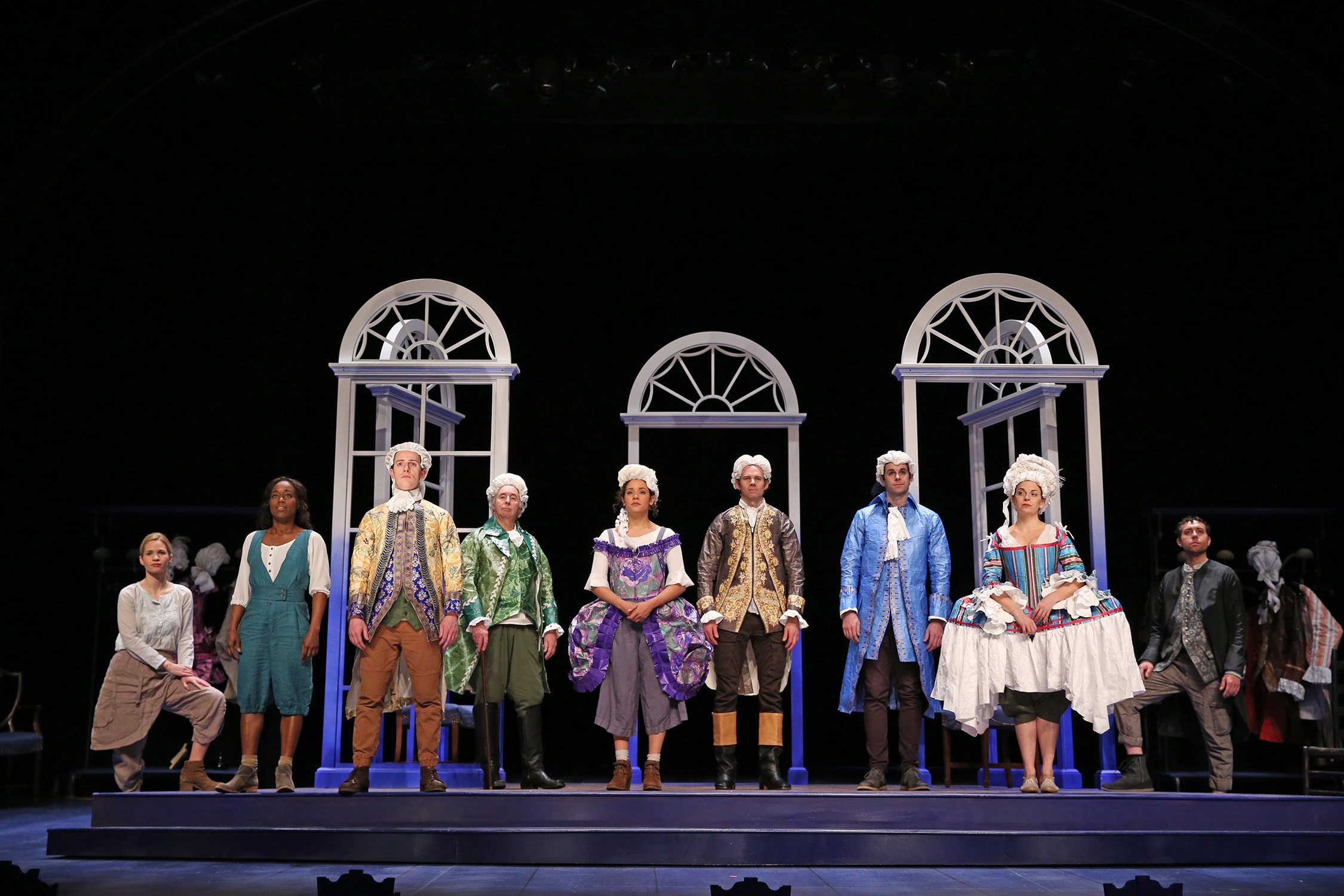 The cast of Jefferson's Garden. Photo by Carol Rosegg.