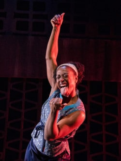 Erika Rose in Caleen Sinnette Jennings' Queens Girl in Africa at Mosaic Theater Company. Photo by Stan Barouh.