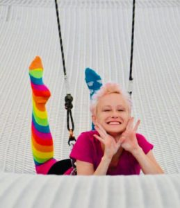 Louise Chase Dettman, story director of Circus in Lines: Many Stories Tall. Photo by Dani Pierce Steuber.
