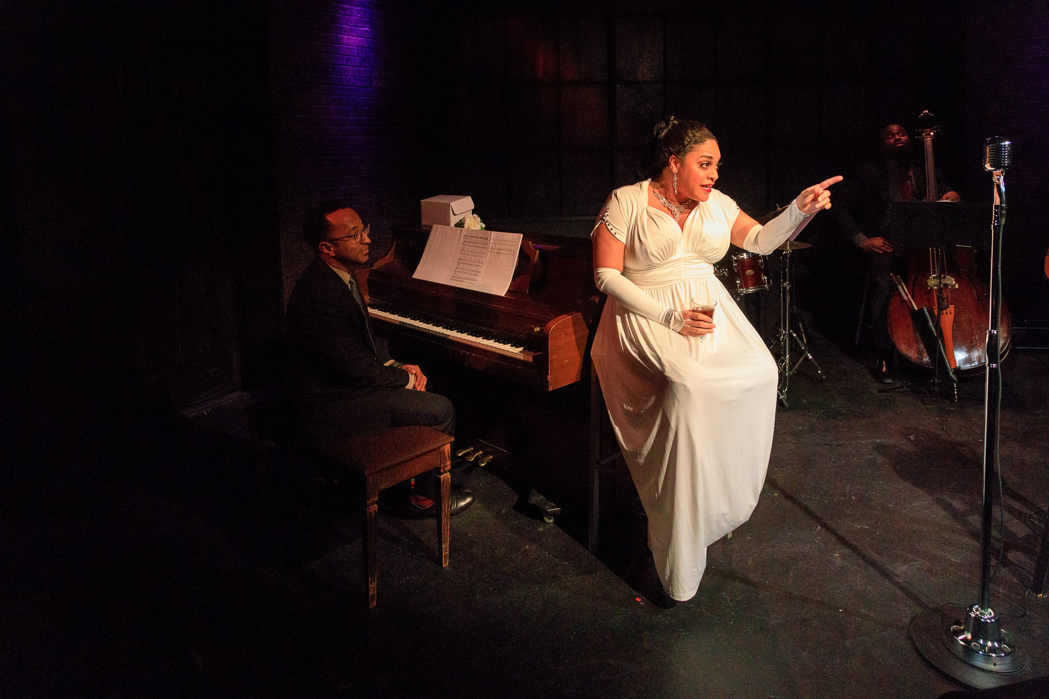 Mark Meadows and Iyona Blake in Lady Day at Emerson's Bar and Grill. Photo by Keith Waters Kx Photography.