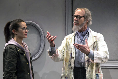 Keri Eastridge as Writer and Nigel Reed as Matisse in All She Must Possess at Rep Stage. Photo courtesy of Katie Simmons-Barth.