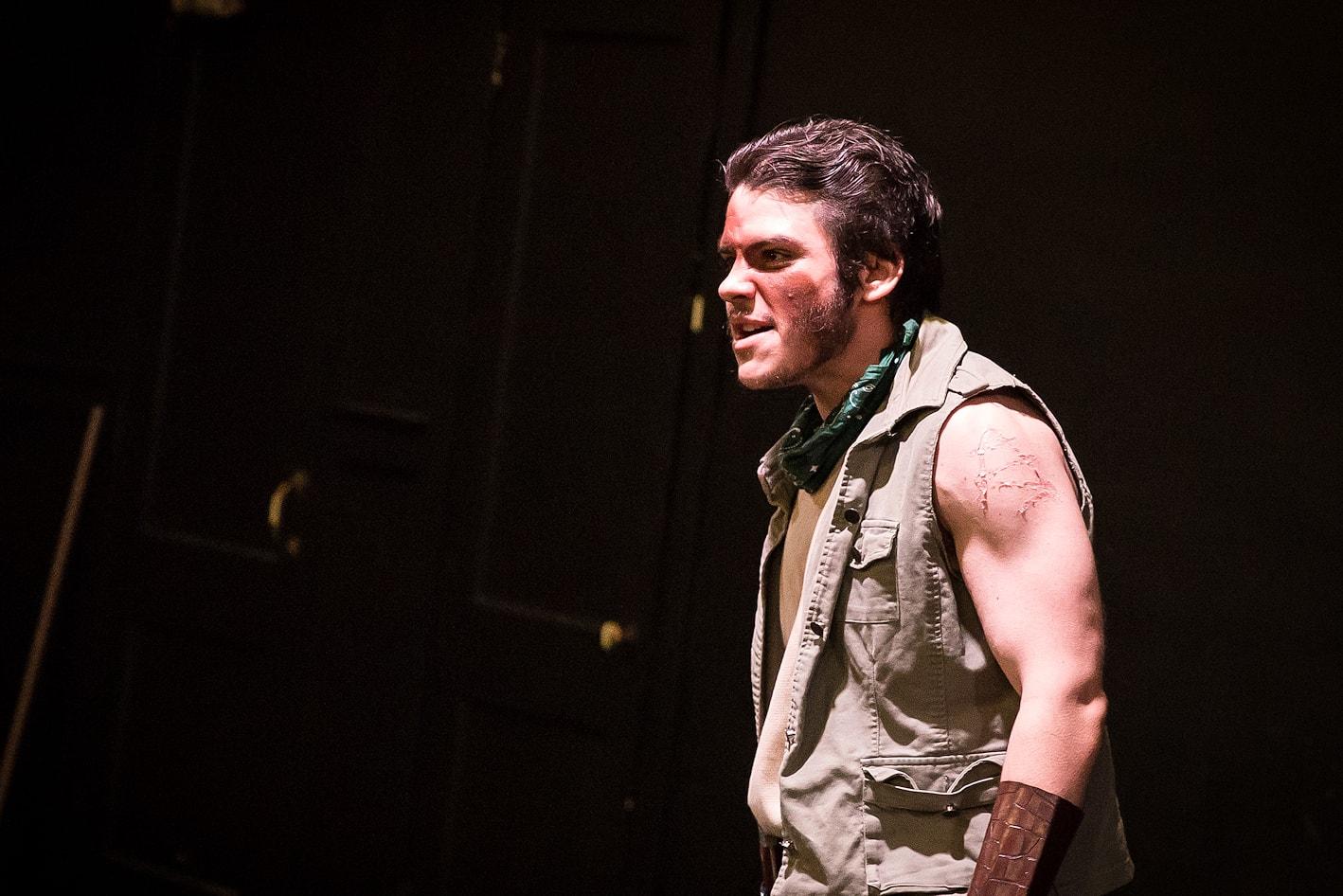 Robert Pike as Aufidius. Photo by Claire Kimball.