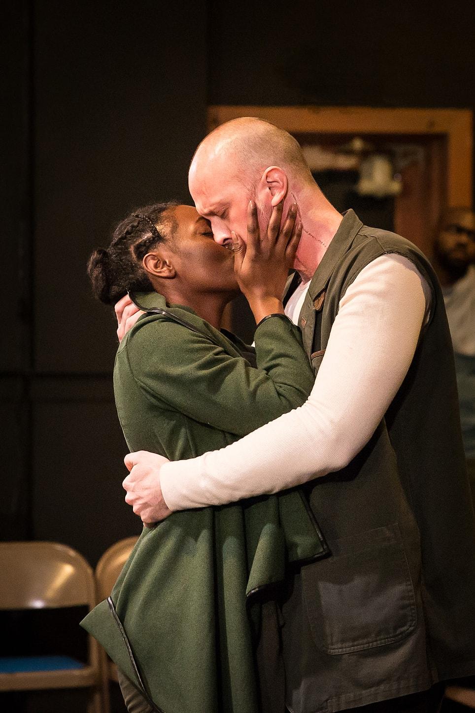 Renea S. Brown as Virgilia and John Stange as Coriolanus. Photo by Claire Kimball.