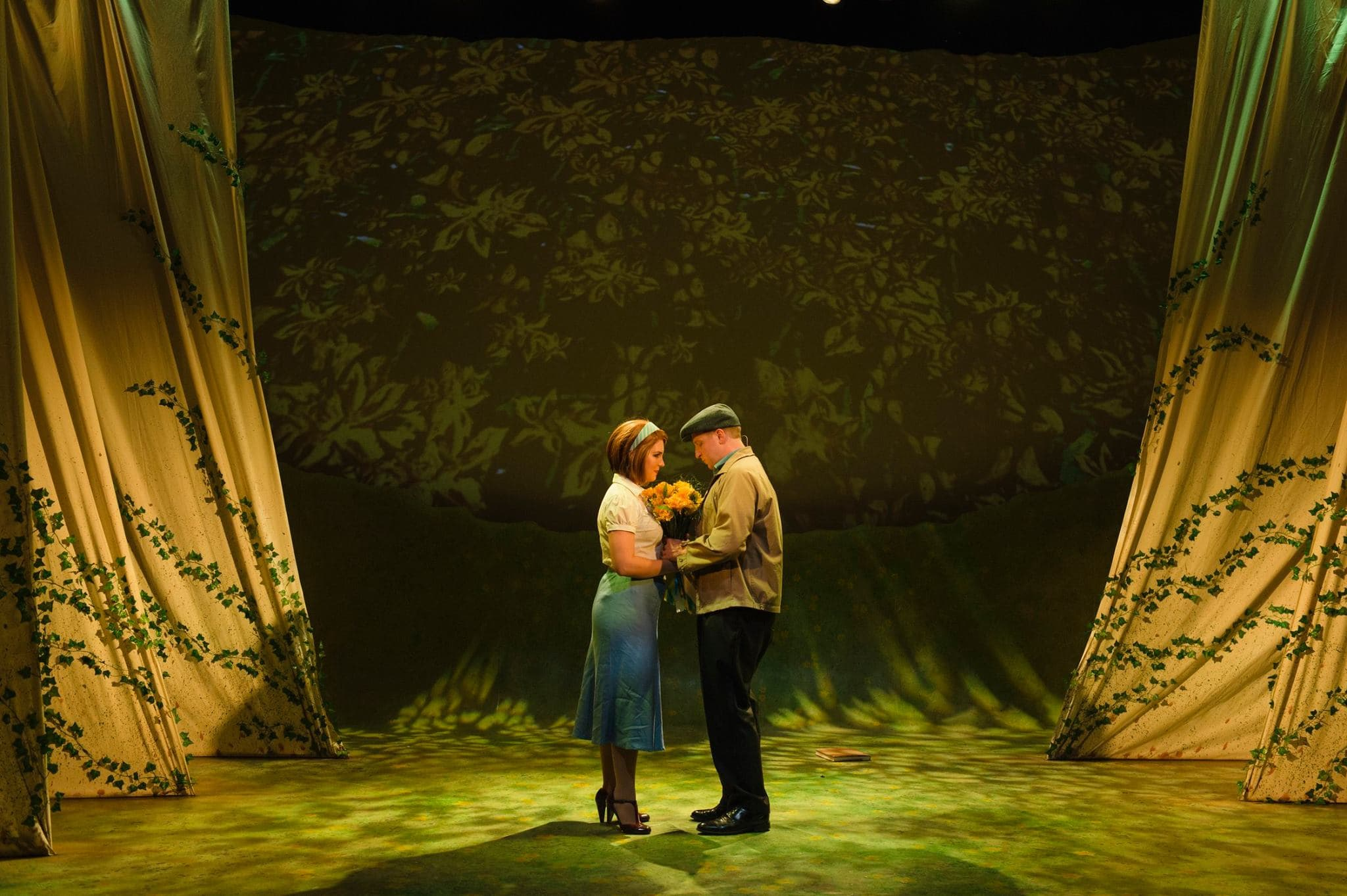 Projection design of Big Fish at the Keegan Theatre. Photo courtesy of Patrick Lord.