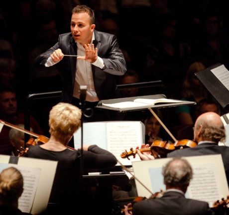 Yannick Nézet-Séguin conducting the Philadelphia Orchestra. Photo by Marco Borggreve.