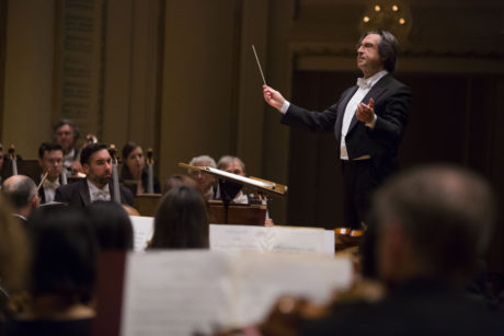 Riccardo Muti conducting the Chicago Symphony Orchestra. Photo by Todd Rosenberg Photography.