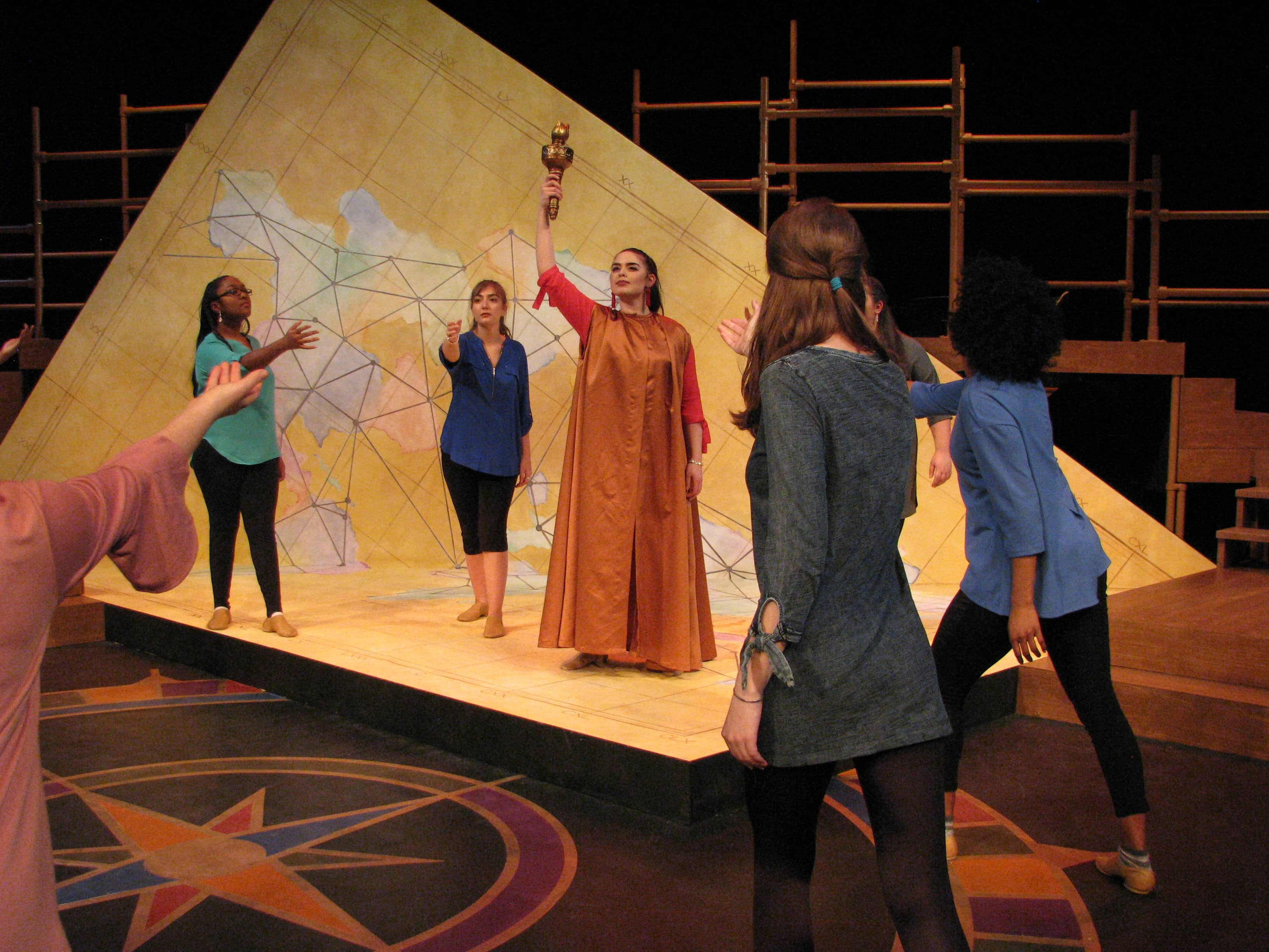 Migratory Tales, by Leslie Jacobson, played at George Washington University through April 1. Photo by Kirk Kristlibas.