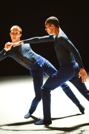 Sebastian Haynes (right) performing with Nederlands Dans Theater. Photo courtesy of Nederlands Dans Theater.