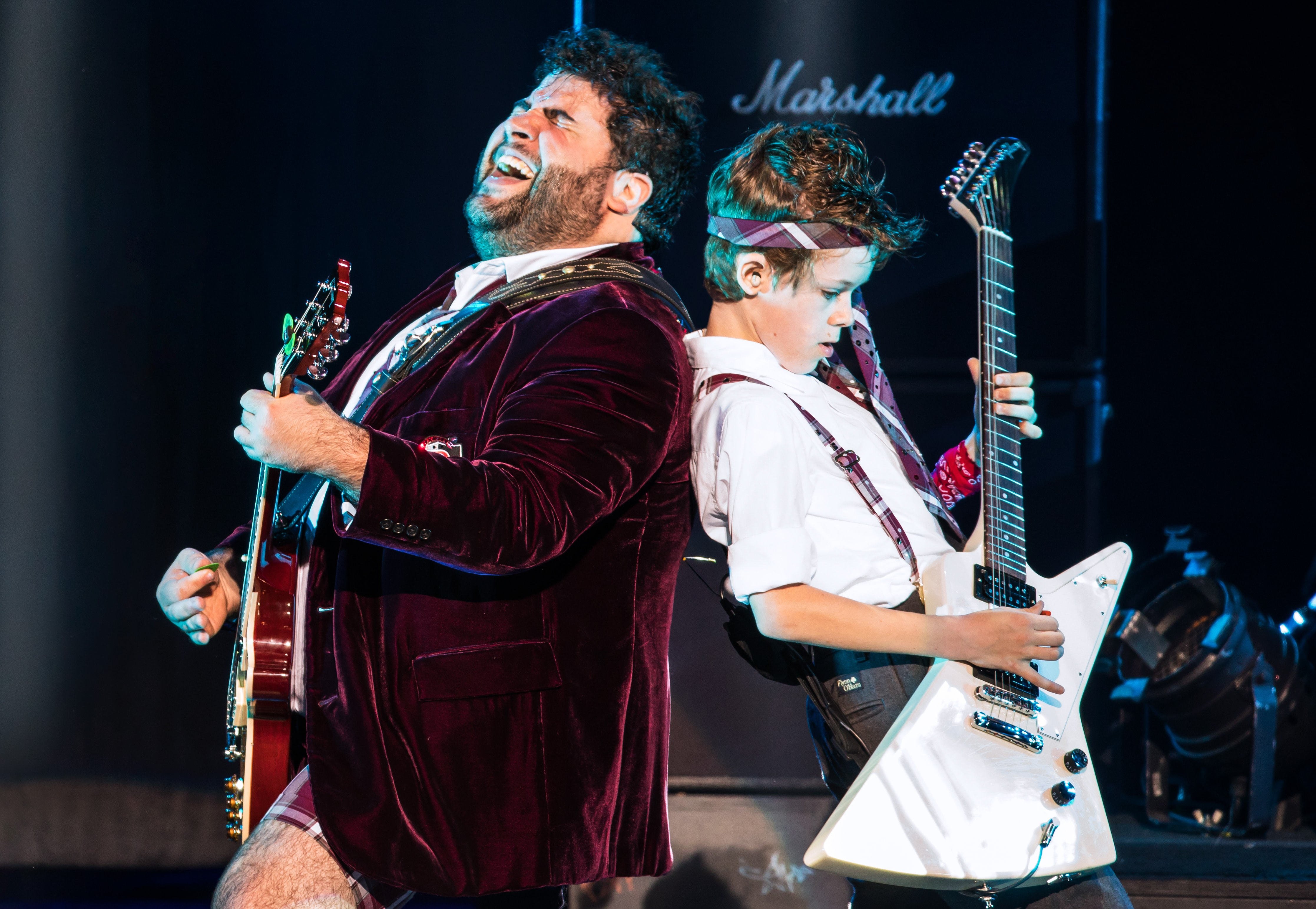 Rob Colletti and Phoenix Schuman in the School of Rock Tour. Photo by Matthew Murphy.