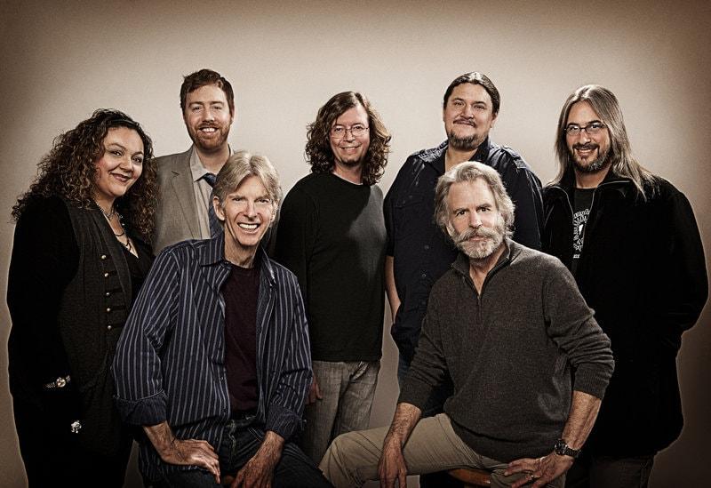 Further photographed in 2010: Phil Lesh, Bob Weir, Sunshine Becker, Joe Russo, John Kadlecik, Jeff Pehrson, and Jeff Chimenti. Photo by Jay Blakesberg.