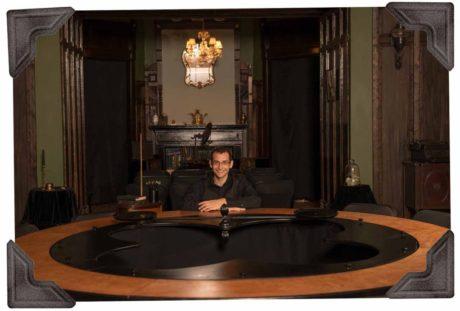 David London at his seance table. Photo courtesy of David London.