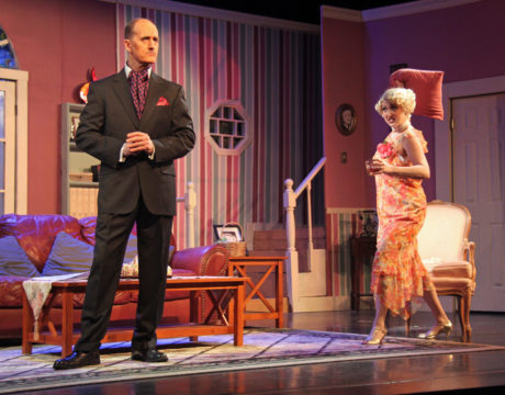 Edward Bennett (James McDaniel) and Sorel Bennett (Heather Norcross) in Death by Design. Photo courtesy of ACCT.