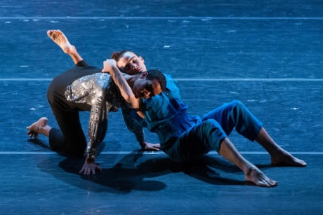 Rashaun Mitchell and Silas Riener dance in DEMO by Damian Woetzel: Now. Photo by Teresa Wood.