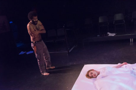 Seth Andrew Watring and Elizabeth Morton in Othello. Photo by Jeff Watts, American University.