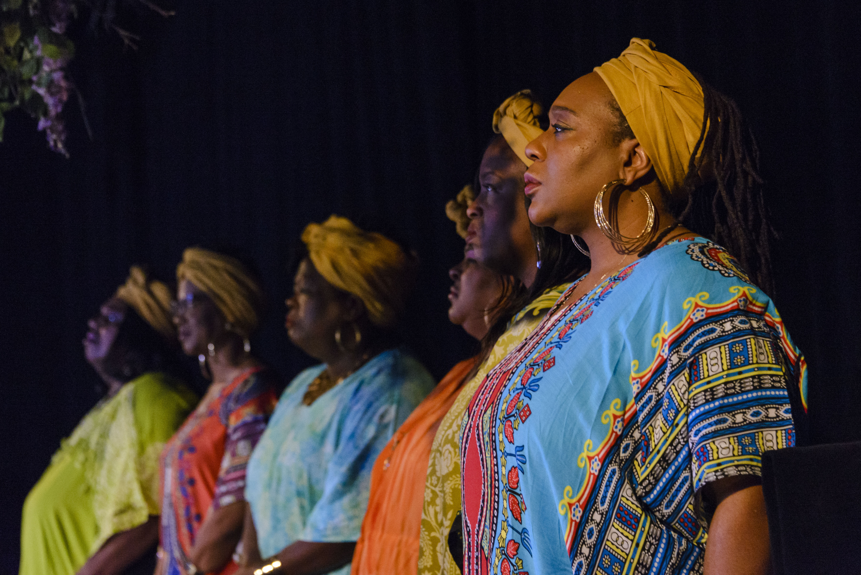 The Gospel Choir: Becky Sanders, Angela Adams, Robin Walker Shanks, Sandy Taylor Hawkins, Angela R. Gray, Kimberly A. Young. Photo by DJ Corey Photography.