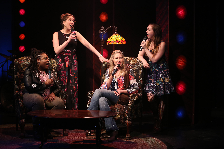 Allyson Kaye Daniel, Courtney Balan, Luba Mason, and Celeste Rose. Photo by Carol Rosegg.