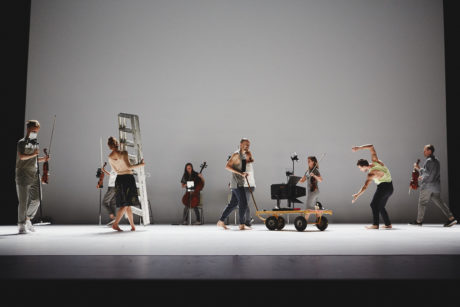 Andersson Dance and Scottish Ensemble in Goldberg Variations - ternary patterns for insomnia. Photo by Hugh Carswell.