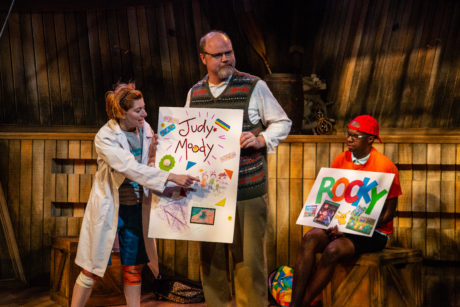 Kelsey Painter, Todd Scofield, and Philip Kershaw in Judy Moody & Stink. Photo by Michael Horan.