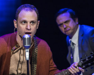 Aaron Bliden and Jamie Smithson in Fly By Night at 1st Stage. Photo by Teresa Castracane.