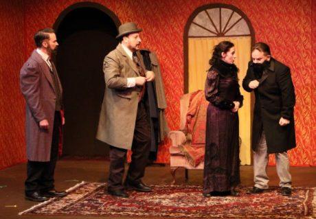 Ken Ludwig's Baskerville: A Sherlock Holmes Mystery, plays through May 5 at the Greenbelt Arts Center. Photo by Jon Barrett.