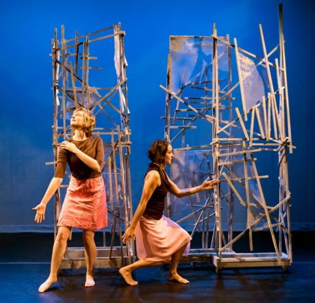 Border, by Jane Franklin Dance Company, performs through April 28 at Theatre on the Run. Photo by Gail Bingham.