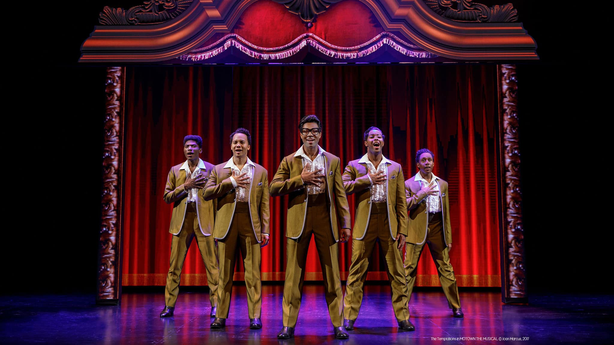 The Temptations in Motown the Musical. Photo by Joan Marcus.