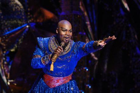 Michael James Scott as Genie in the North American tour of Disney's Aladdin. Photo by Deen van Meer.