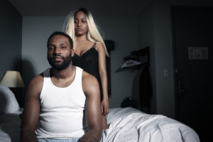 Palesa Pryor and Walter Parker Jr. in Honey. Photo courtesy of Nameless Theater.