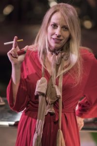 """Nancy Allen Lundy as """"One Dead Mother"""" in Florida by UrbanArias. Photo by Teresa Castracane."""