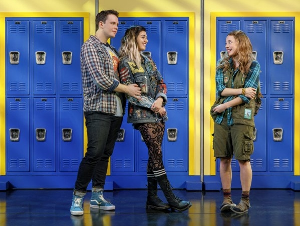 Grey Henson, Barrett Wilbert Weed, and Erika Henningsen. Photo by Joan Marcus.