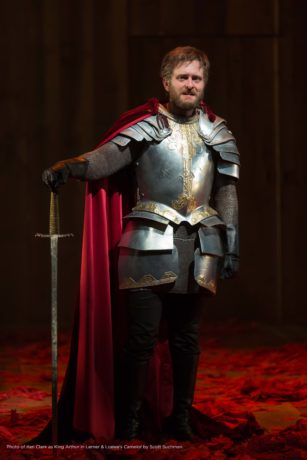 Ken Clark as King Arthur in Camelot, now playing at Shakespeare Theatre Company. Photo by Scott Suchman.