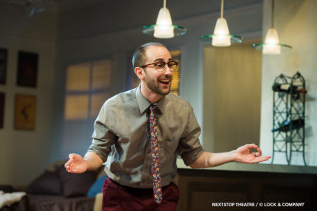 Noah Schaefer as Liam in Bad Jews, now playing at NextStop Theatre. Photo by Lock & Company.
